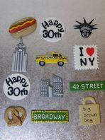 12  New York Cupcake Toppers